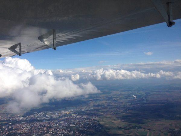Mit den Wolken auf Augenhöhe