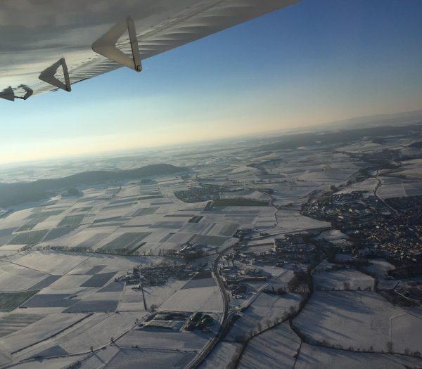 Winterflug über Bad Königshofen