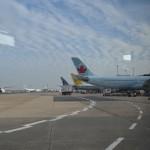 Schönes Wetter und viele Flieger in Frankfurt